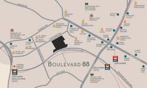 boulevard 88 location map