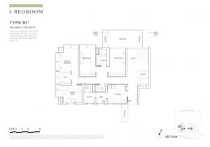 boulevard88 floor plan 3 bedroom type b1