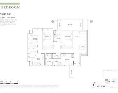 boulevard88 floor plan 3 bedroom type b1