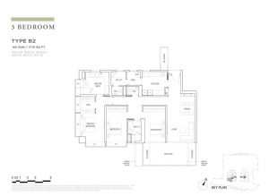 boulevard88 floor plan 3 bedroom type b2