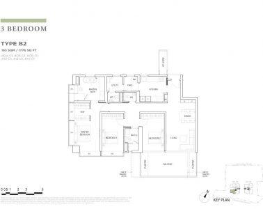 boulevard88 floor plan 3 bedroom type b2