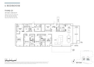 boulevard88 floor plan 4 bedroom type c1