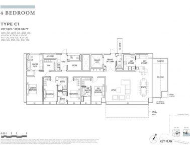 boulevard88 floor plan 4 bedroom type c1