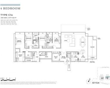 boulevard88 floor plan 4 bedroom type c1a