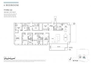 boulevard88 floor plan 4 bedroom type c2