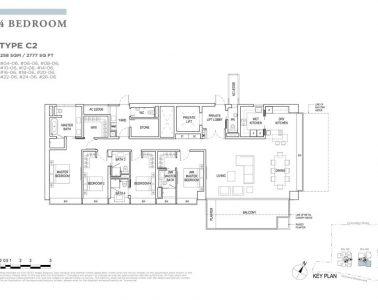 boulevard88 floor plan 4 bedroom type c2