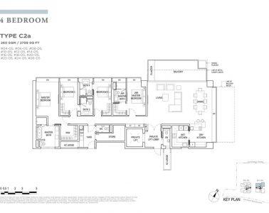 boulevard88 floor plan 4 bedroom type c2a