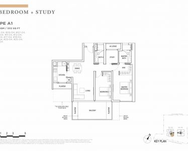 boulevard88-floorplan-2-bedroom-study-type-a1